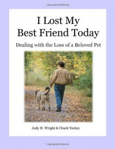 I Lost My Best Friend Today book cover, dealing with loss of pet. death of a pet, stories about pets, stories about dogs, dogs as pets,horses as pets, why we love our pets, pet grief coach, Judy Helm Wright-pet grief coach, pet loss, recovering from loss, children and death, children and illness, parent educator, artichoke press , cats as pets